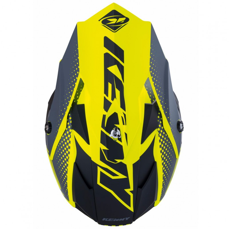 casque kenny performance mat neon yellow 2018 cycles evasion. Black Bedroom Furniture Sets. Home Design Ideas
