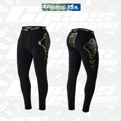 PRO-X COMPRESSION PANTS THERMAL (Black/Yellow) g form