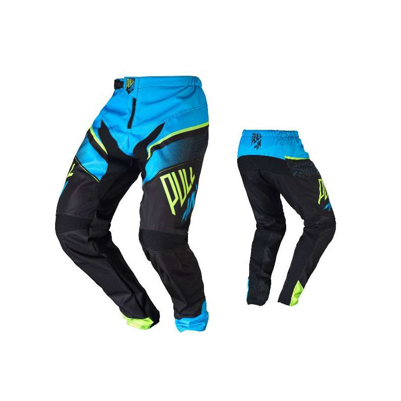 pantalon bmx pull in race cyan lime adulte cycles evasion. Black Bedroom Furniture Sets. Home Design Ideas
