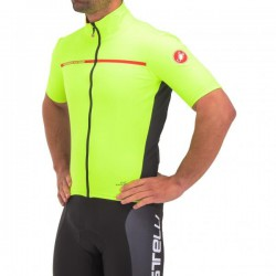 Maillot CASTELLI PERFETTO LIGHT 2 Manches Courtes Jaune Fluo 2017