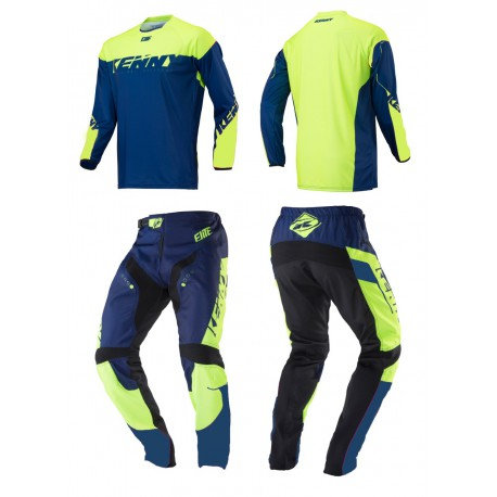 MAILLOT BMX ELITE KENNY ADULTE  NAVY/LIME 2018