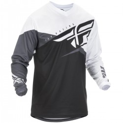 MAILLOT FLY F-16 2019 NOIR/BLANC/GRIS
