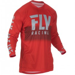 MAILLOT FLY LITE HYDROGEN 2019 ROUGE/GRIS