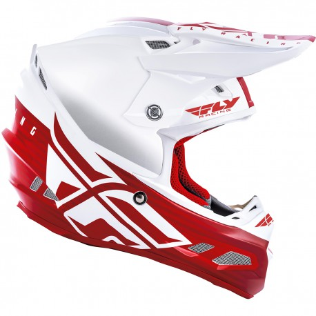 CASQUE FLY F2 MIPS SHIELD 2019 BLANC/ROUGE