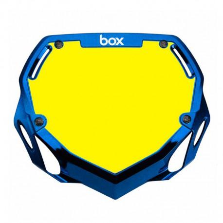 PLAQUE BOX  SMALL PHASE  CHROME BLUE