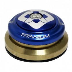 "JEU DE DIRECTION PRIDE TI45 TITANIUM TAPERED BLUE 1-1/8""- 1.5"""
