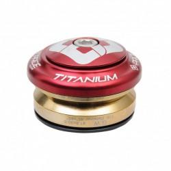 """JEU DE DIRECTION PRIDE TI45 TITANIUM TAPERED RED 1-1/8"""" - 1.5"""""""