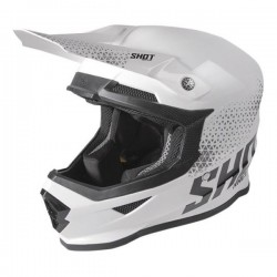  CASQUE SHOT FURIOUS RAW WHITE BLACK GLOSSY