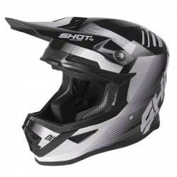 CASQUE SHOT FURIOUS TRUST BLACK WHITE GLOSSY