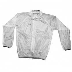 COUPE VENT IMPERMEABLE SHOT TRANSPARENTE / NOIR KIDS