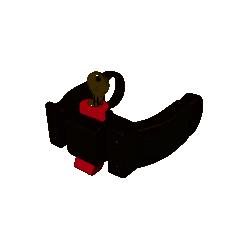 Fixation de cintre pour VAE BOSCH avec serrure