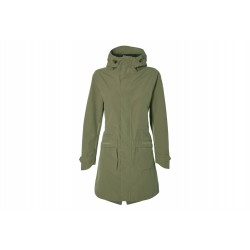 Basil Mosse veste de pluie Parka femmes, Vert olive M