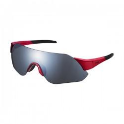 Shimano lunettes arlt1mr rouge w/ gris fumé miroir