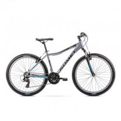 Vélo ROMET MTB 26 pouces RAMBLER R6.0  graphite turquoise