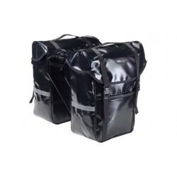 SACOCHE ARRIERE 2 VOLUMES PVC B-URBAN NOIR