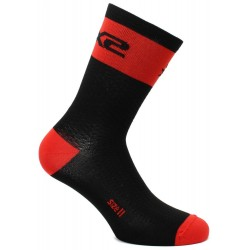 CHAUSSETTES SIXS SHORT LOGO RED