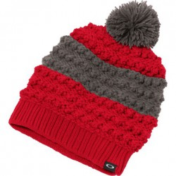 OAKLEY JULIETT POM BEANIE   RED LINE