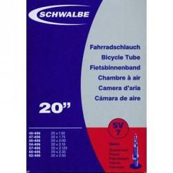 Chambre à air valve Presta pour vélo 20 x 1.50 - 2.50 Schwalbe