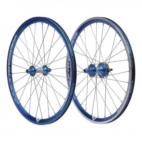 Paire De Roues Pride Racing Exp 20x1 3 8 Bleu