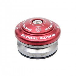 "JEU DE DIRECTION GLOBAL RACING FLEX 1-1/8"" ROUGE"