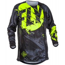 MAILLOT FLY KINETIC OUTLAW  NOIR/JAUNE FLUO 2018